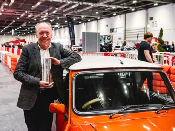 Ian Callum recognised for his design achievements at London Classic Car Show