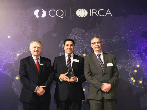 JLR scoops Leadership Award at the 2017 International Quality Awards