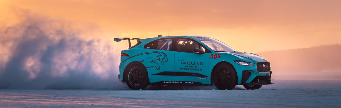 Jaguar I-PACE eTROPHY earns its stripes on the frozen lakes of Sweden