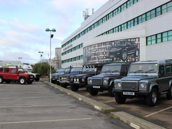 Bring your Land Rover to work day for world Land Rover day Halewood