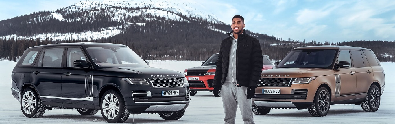 50 YEARS OF RANGE ROVER: LAND ROVER AND ANTHONY JOSHUA CELEBRATE WITH UNIQUE SNOW ART