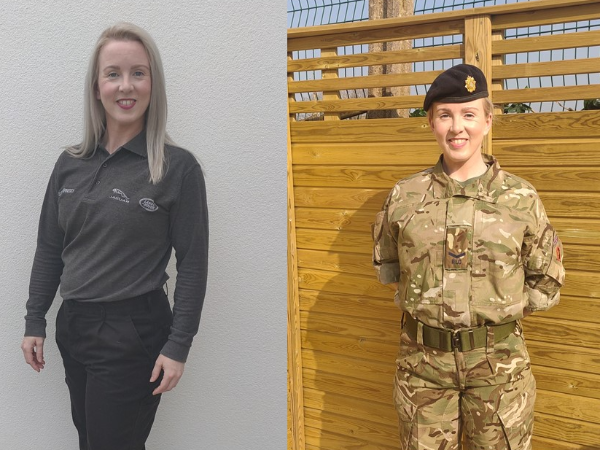 SOLDIERING ON: A REST IS OFF THE CARDS FOR OUR  ARMY RESERVES MUM OF TWO, SOPHIA HENNESSY