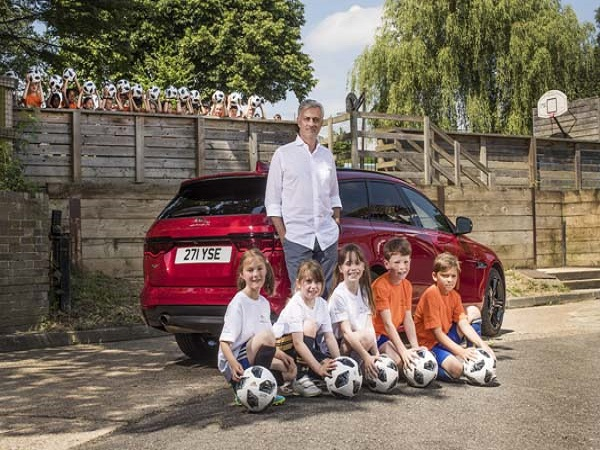 Jose Mourinho inspires next generation of young footballers with the help of Jaguar