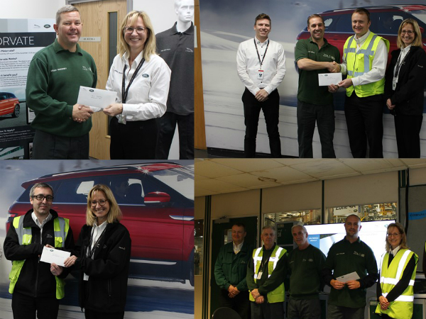 We've given to some great causes with our Motorvate cheques