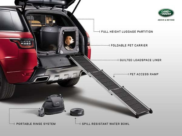 Land Rover to give dogs a taste of luxury with new pet packs