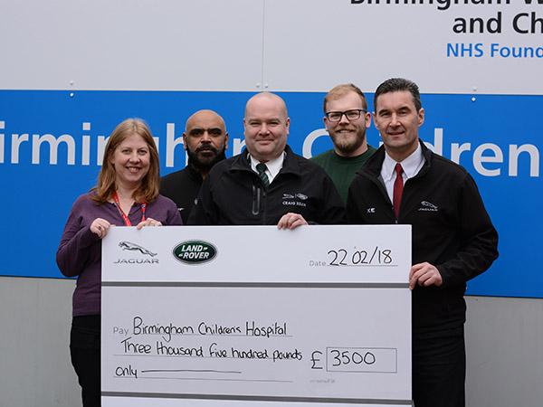 Castle Brom's Plant Launch Team Raise a Massive £3,500 For the Children's Hospital