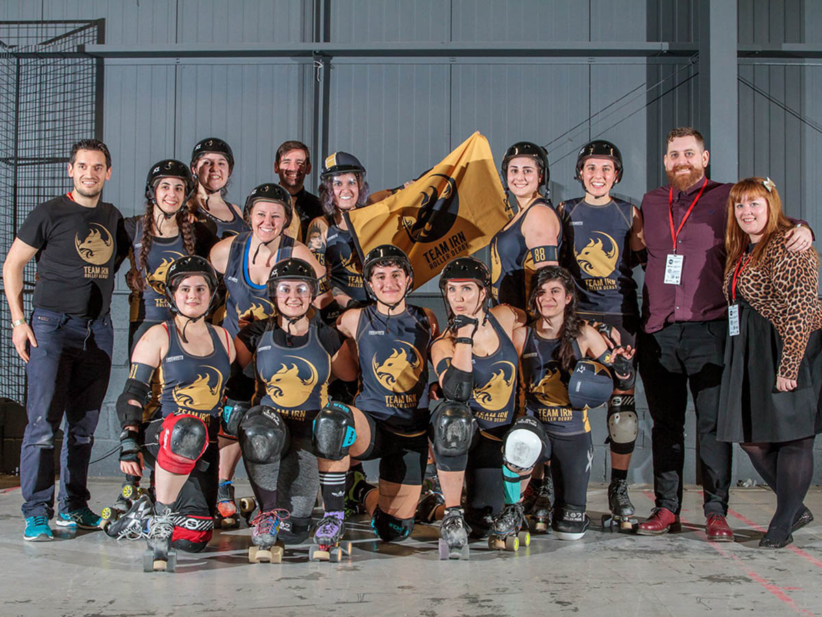 Maz Zahedi competes at World Championship Roller Derby in Manchester