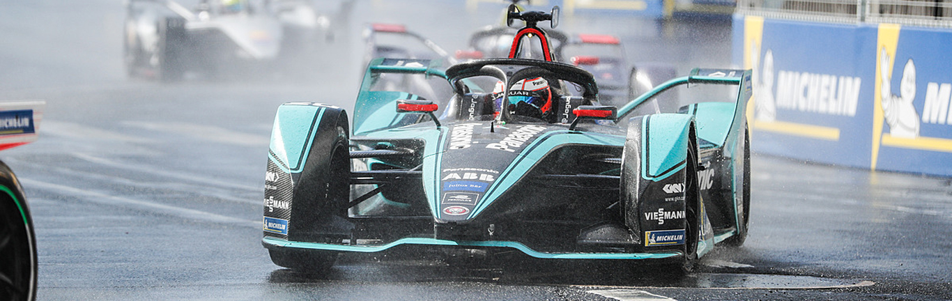 The weather plays havoc in Paris as Panasonic Jaguar Racing struggles in the wet conditions