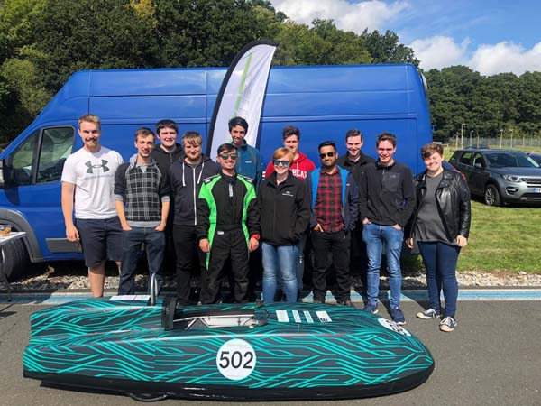Jaguar Land Rover's graduate electric racing team continues tilt for title