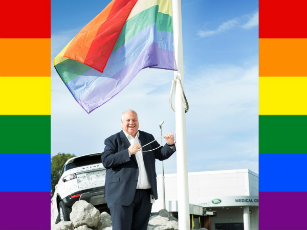 HALEWOOD FLYING THE FLAG FOR NATIONAL COMING OUT DAY