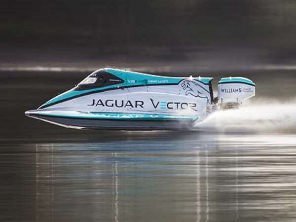 Jaguar Vector Racing smashes the world electric boat speed record