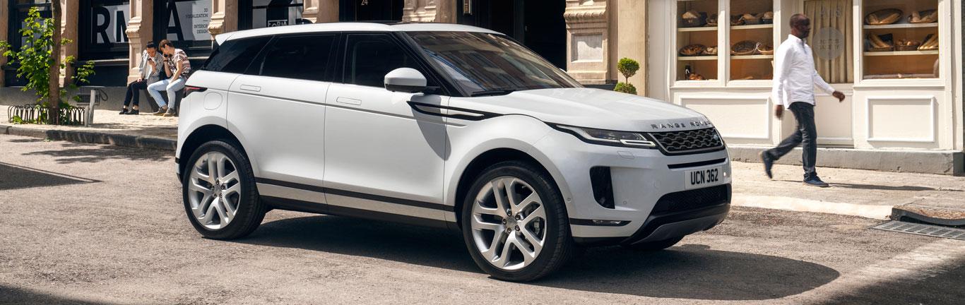 Spanish model showcases the new Range Rover Evoque in Madrid