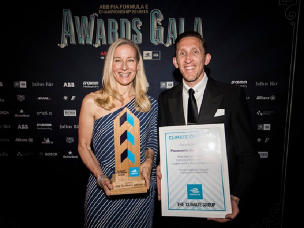 Panasonic Jaguar Racing win the inaugural Climate Champions Award in New York