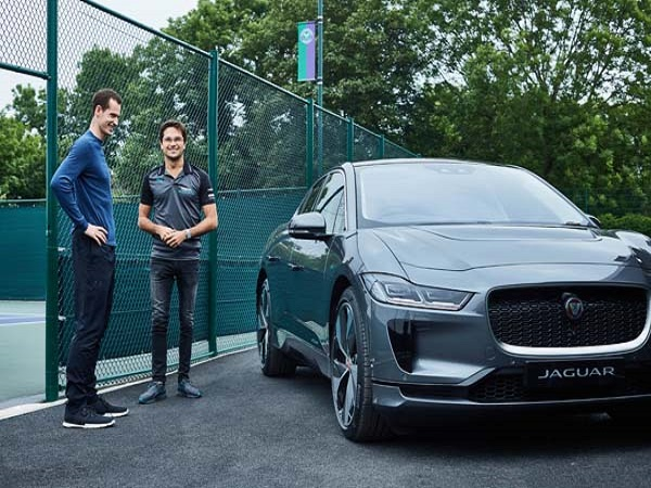 Andy Murray keeps pledge to go electric with the I-PACE on World Environment Day