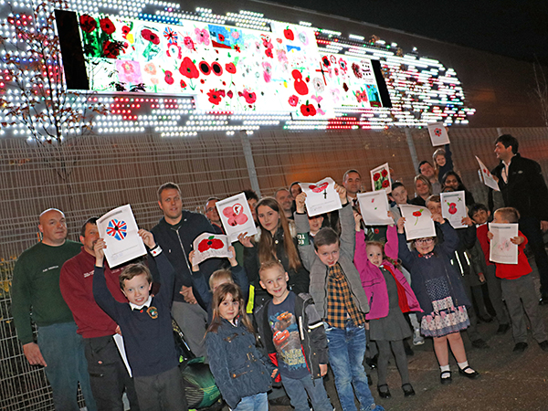 Draw a Poppy Competition Winners Collect Their Prizes at Castle Brom