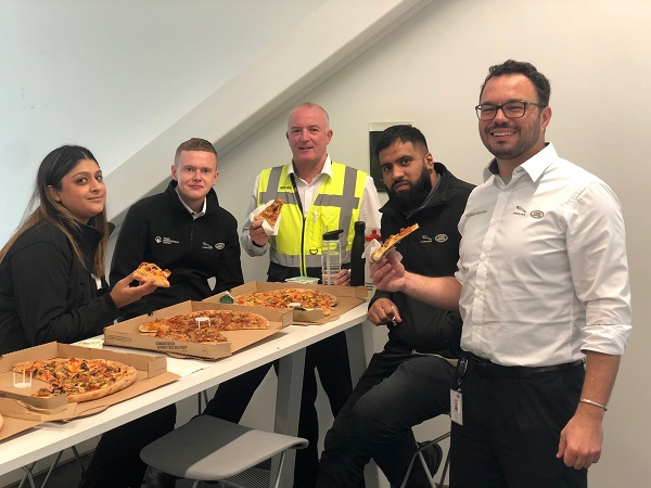 Pizza points strengthen team at Jaguar Land Rover's Engine Manufacturing Centre