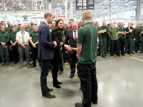 THE DUKE AND DUCHESS OF CAMBRIDGE VISIT OUR SOLIHULL SITE