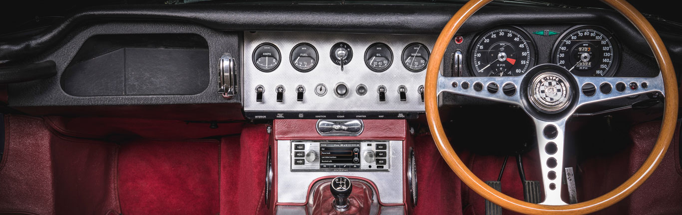 Jaguar Land Rover Classic's modern infotainment gives classic cars a new lease of life