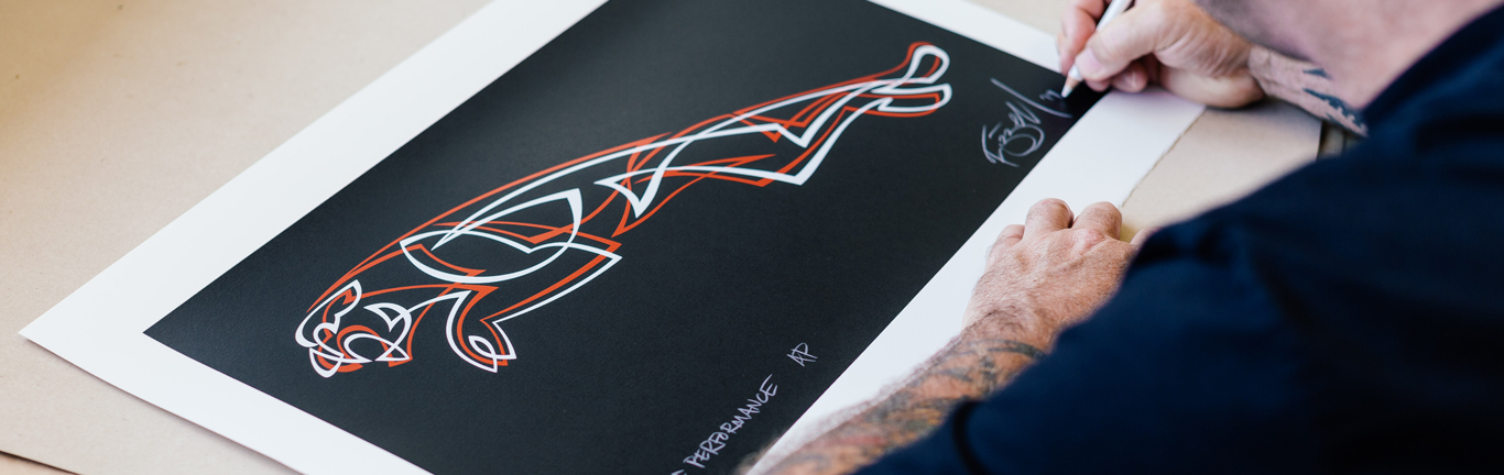 Famous New Zealand graffiti artist creates exclusive Jaguar print