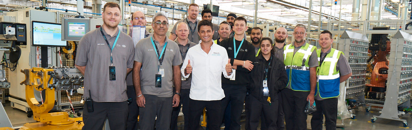 Panasonic Jaguar Racing's Mitch Evans surprises colleagues at the EMC