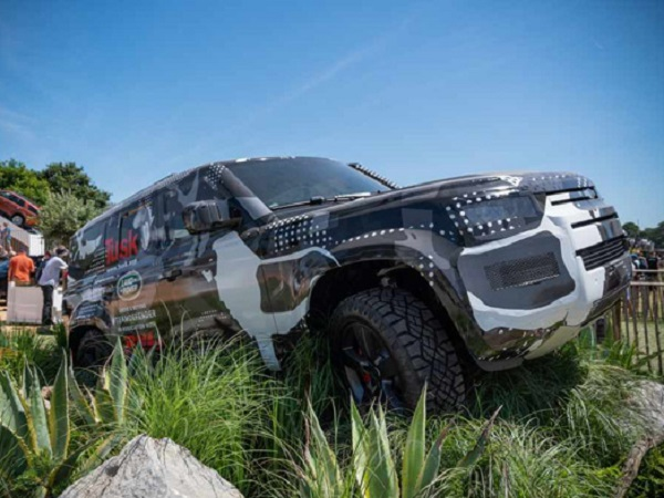 New Defender gears up to make an appearance at the Jaguar Land Rover Festival