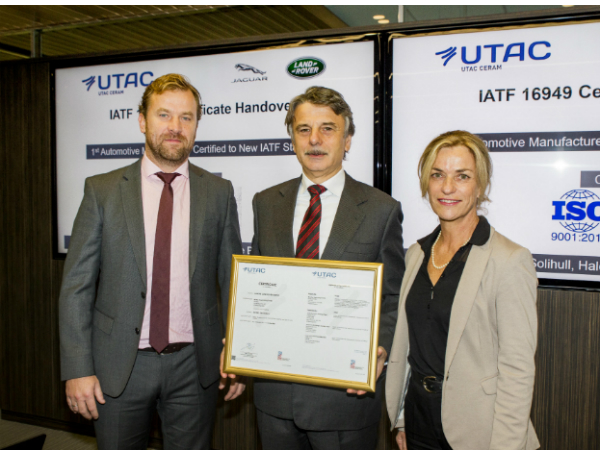 JLR awarded IATF Quality Management Certification