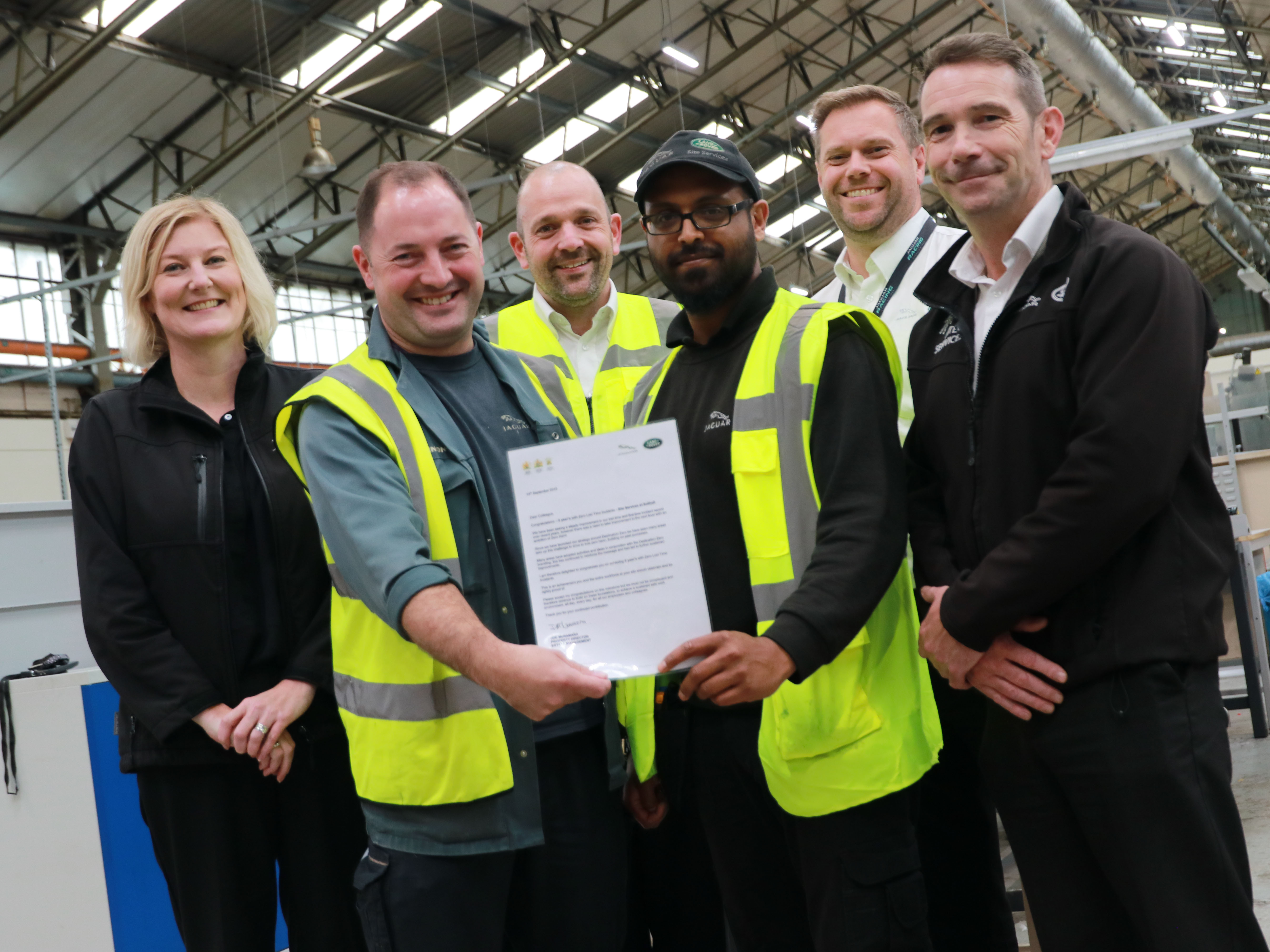 CELEBRATING FIVE YEARS OF ZERO ACCIDENTS FOR SOLIHULL'S ESTATES MANAGEMENT