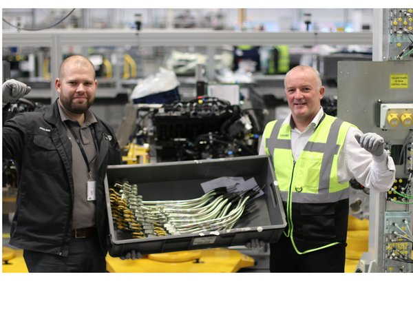 BAG-STREET BOYS OF OUR ENGINE MANUFACTURING CENTRE HAVE A NUMBER ONE HIT WITH SAVING ON PLASTIC BAGS