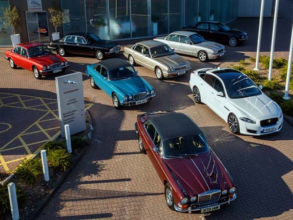 Convoy of Jaguar XJs head to Paris Motor Show to complete 50th celebrations