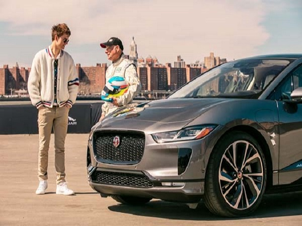 Baby Driver star takes new Jaguar I-PACE for a spin