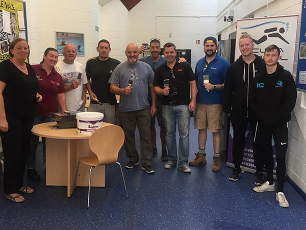 Castle Brom's IPS Team Lend A Hand At Community Baths