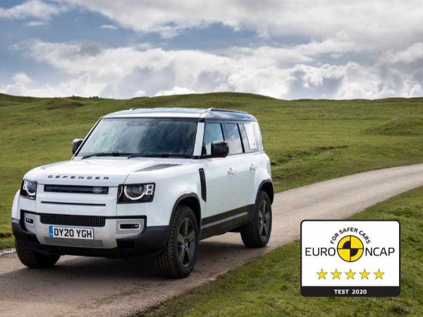 FIVE-STAR EURO NCAP SAFETY RATING FOR AWARD-WINNING NEW LAND ROVER DEFENDER 110