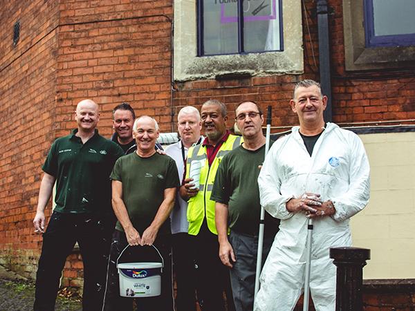 Castle Bromwich's Press Shop Transform Local Charity Offices