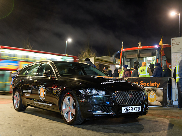 EMPLOYEES DONATE A JAGUAR XF SPORTBRAKE TO WEST MIDLANDS BASED HOMELESS CHARITY