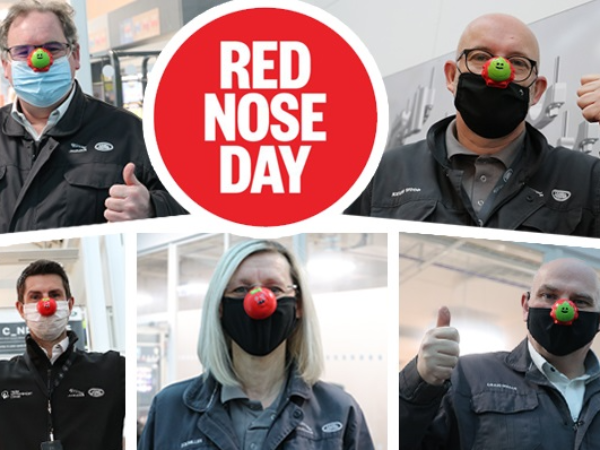 RED-NOSED MANAGEMENT TEAM AT EMC HELP RAISE OVER £1200 FOR COMIC RELIEF