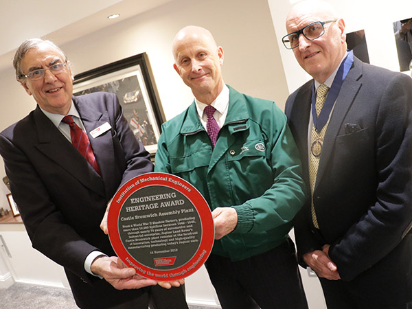 Castle Bromwich Receives Prestigious Engineering Heritage Award