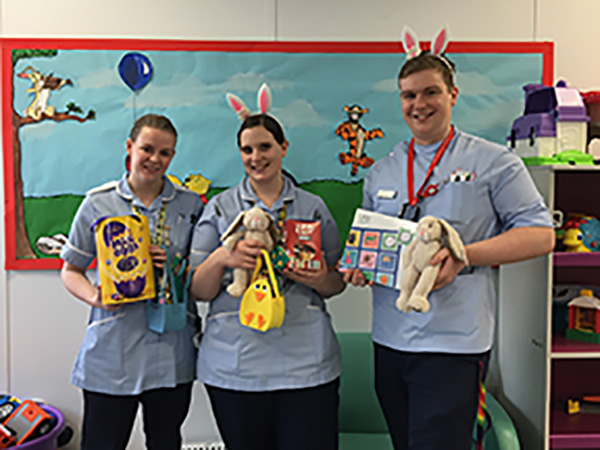 Easter treat haul makes its way to New Cross Hospital Children's ward
