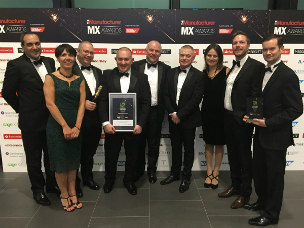 Solihull win the Strategy and Leadership Award at The Manufacturer MX Awards