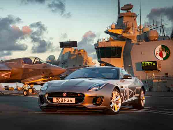 The best of British precision engineering: F-TYPE meets F-35 fighter jet