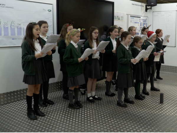 PLANTATION CHOIR BRING FESTIVE CHEER TO HALEWOOD