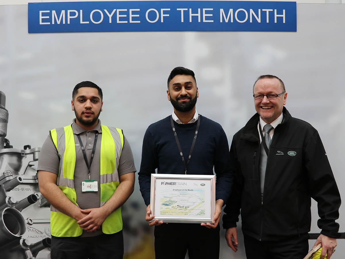 Raj Sidhu picks up Employee of the Month award for January