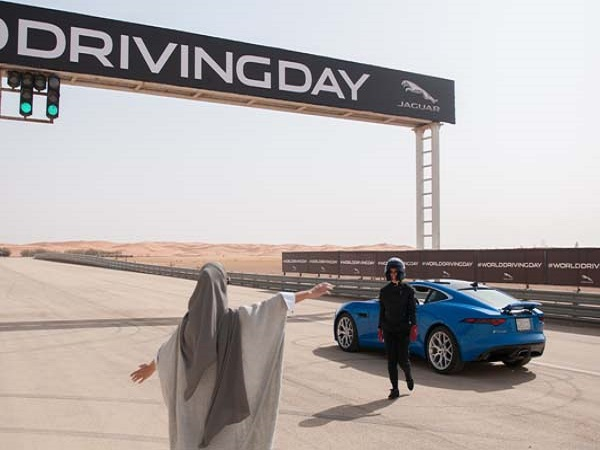 Jaguar launches World Driving Day as Saudi Arabia lifts ban on women drivers