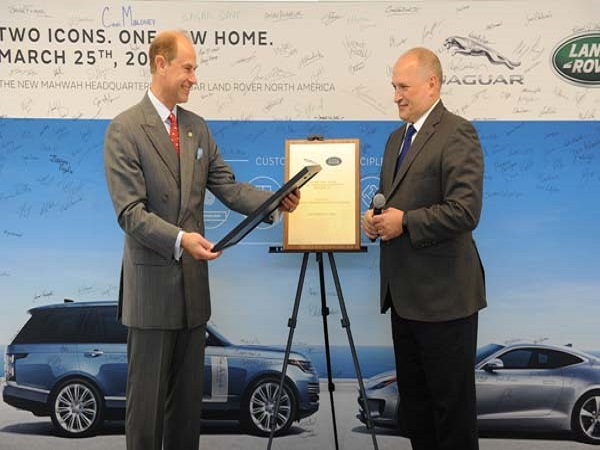 Prince Edward officially opens North America's new headquarters