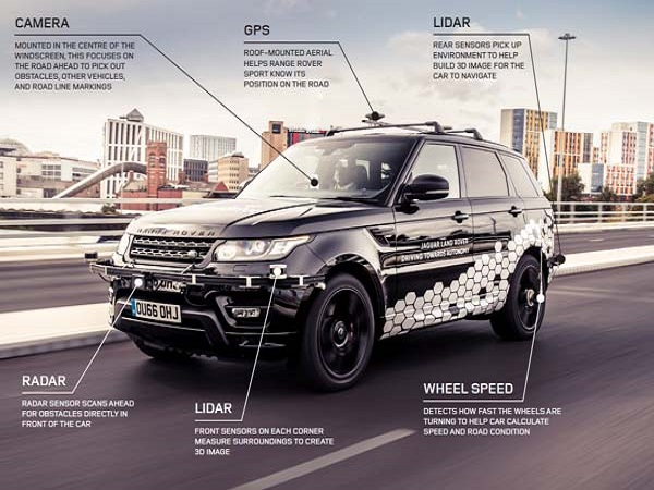 Autonomous Range Rover Sport successfully runs rings around Coventry
