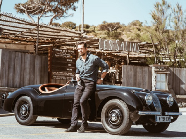 Jaguar Classic helps David Gandy design and restore his own bespoke XK120