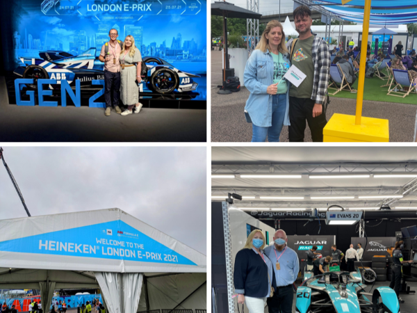 WINNING COLLEAGUES EXPERIENCE THE ACTION AT LONDON E-PRIX