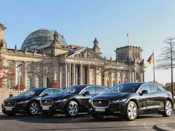 A fleet of Jaguar I-PACEs to be used by Berlin chauffeur firm