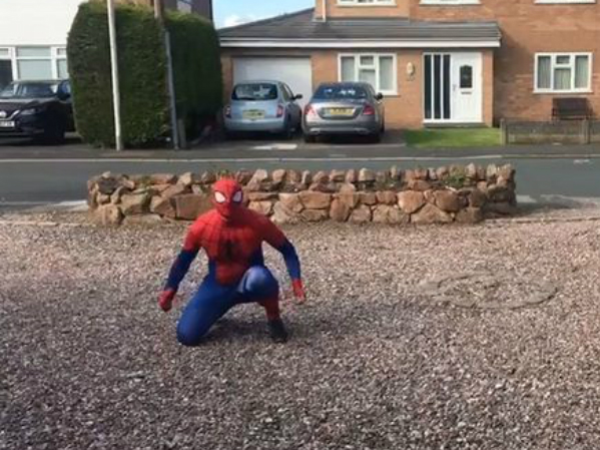 HALEWOOD'S RESIDENT SPIDEY RAISES OVER £5,000 FOR THE NHS