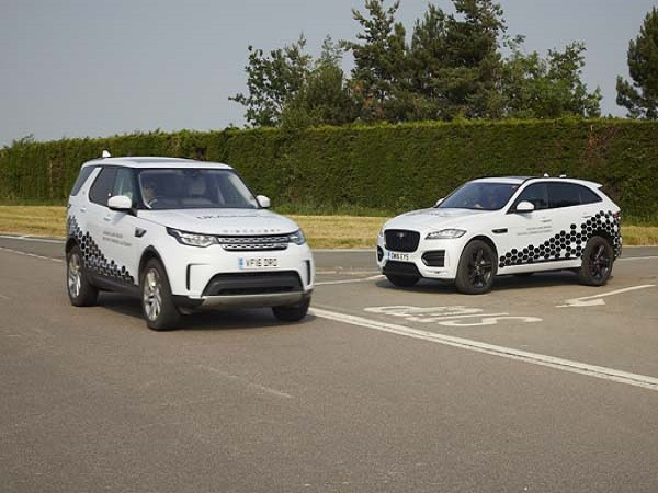 Smart, connected Jaguar and Land Rovers go out to learn UK roads