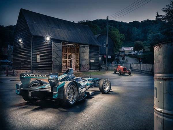Mitch Evans smashes Shelsley Walsh record in Jaguar Formula E race car